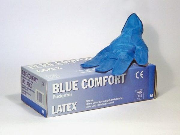 Handschuhe Latex Blue Gr. M, ungepudert