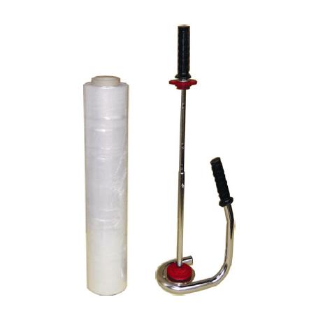 Metallabroller für Handwickelfolie Paletten