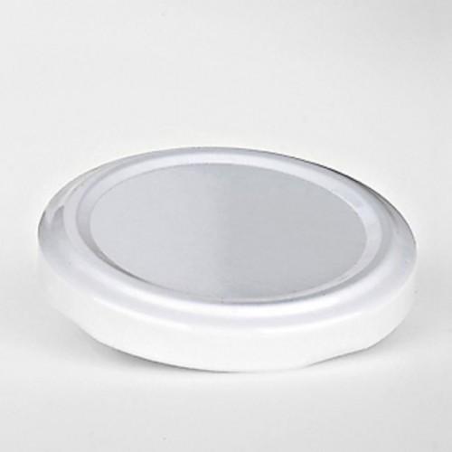 Verschluss TO48 weiß für 1 lt. / 0,5 lt.  Milchflasche