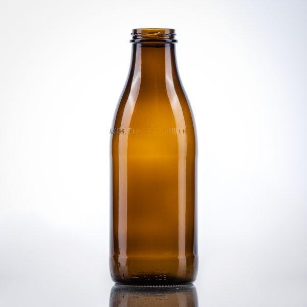 Glas-Milchflaschen braun 1 lt. TO48