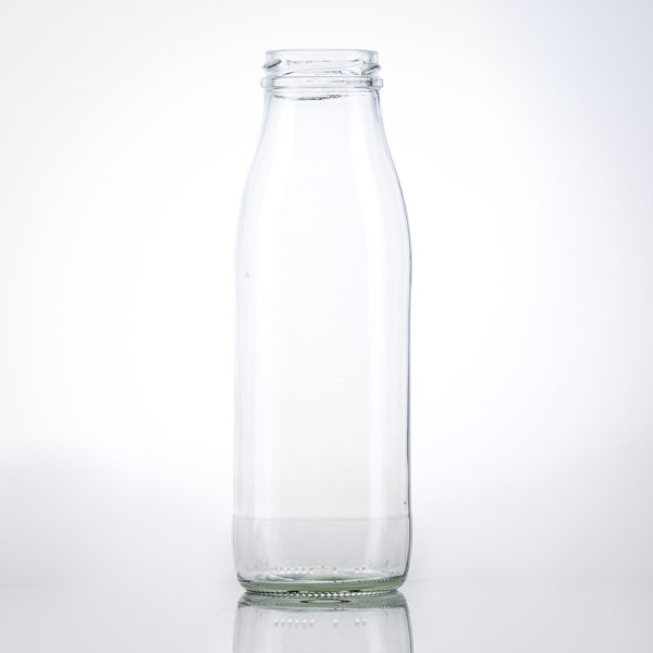 Glas Milchflasche 0,5 lt. transparent TO48