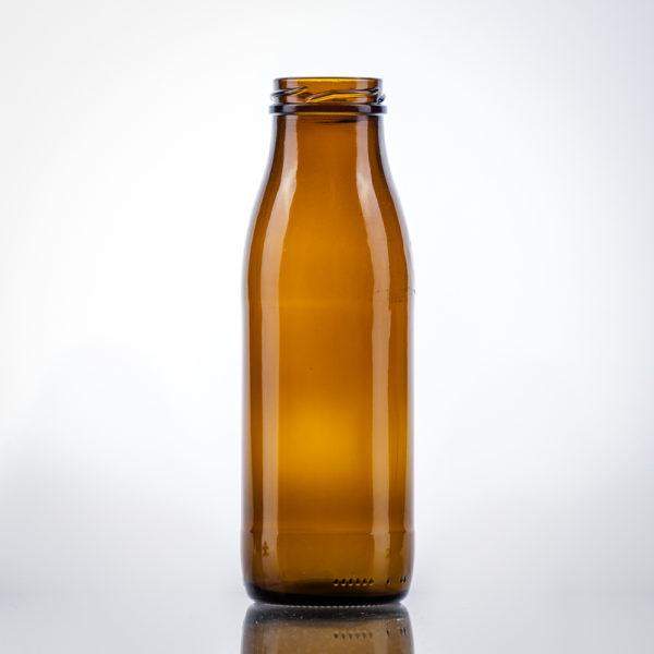 Glas-Milchflaschen braun 0,5 lt. TO48
