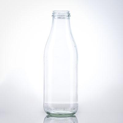 Glas Milchflasche 1 lt. TO48