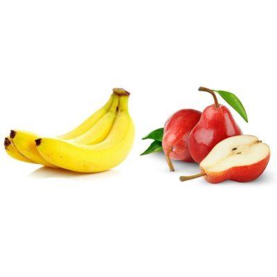 Fruchtzubereitung für Joghurt Banane Birne