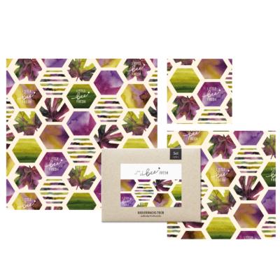 Bienenwachstuch Sechseck 3er Set