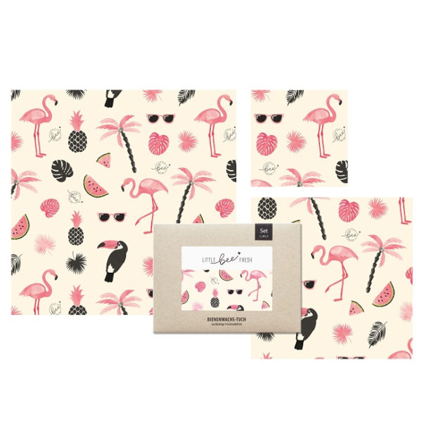 Flamingo Set Bienenwachspapier