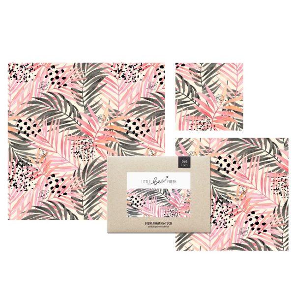 Bienenwachstuch Jungle Pink Set