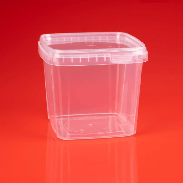 Kunststoffbecher 1.150 ml quadratisch