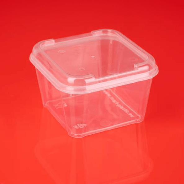 Kunststoffbecher rechteckig 300 ml QM